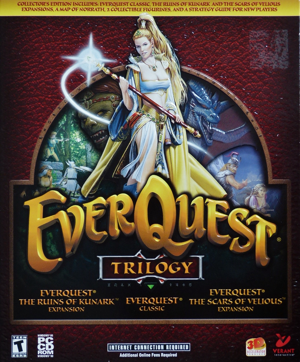 Computer Game Museum Display Case - EverQuest Trilogy