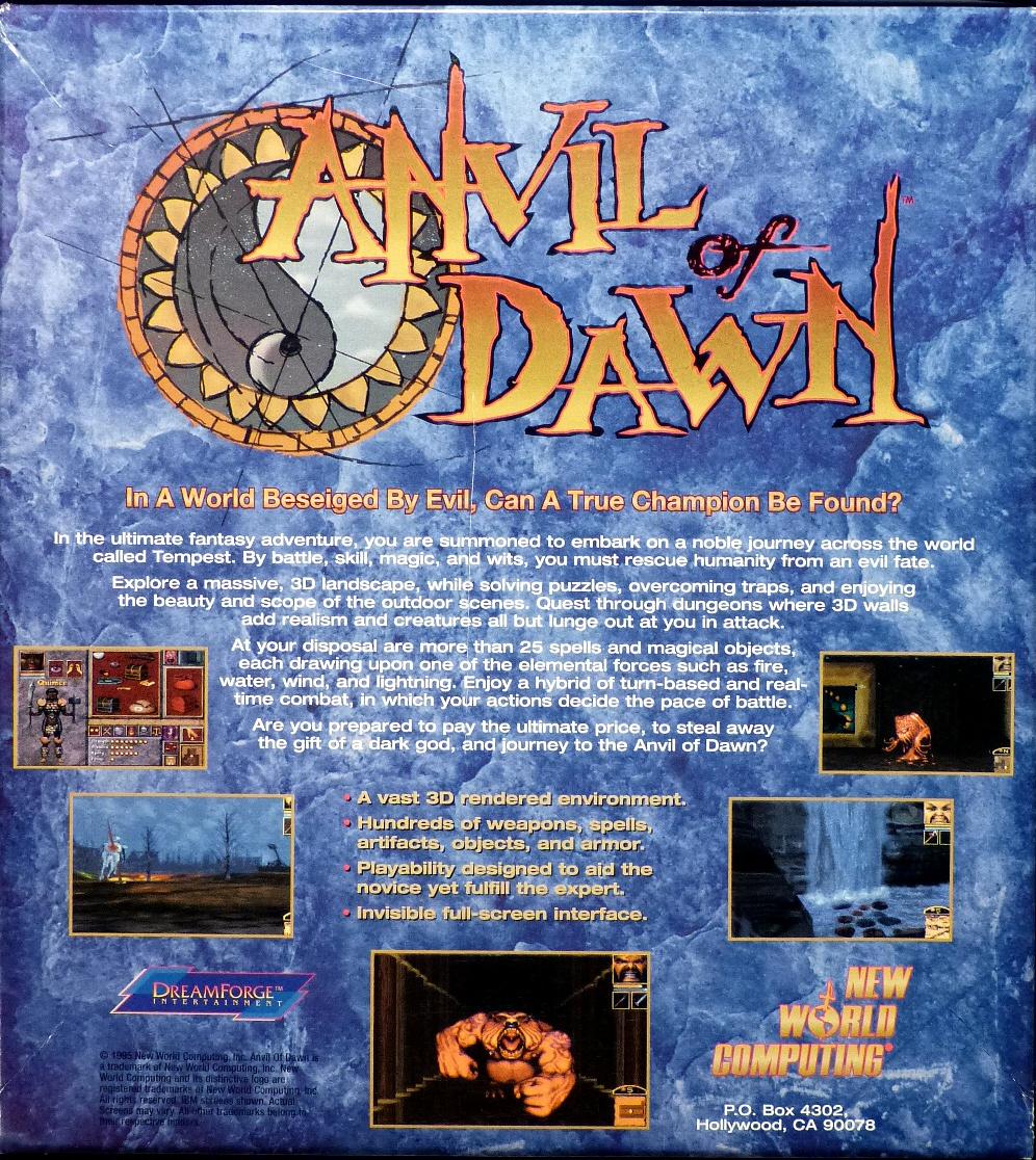 Computer Game Museum Display Case - Anvil of Dawn