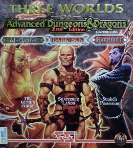 Three Worlds of Official Advanced Dungeons & Dragons 2nd Edition Computer Games (Al-Qadim: The Genie's Curse; Dark Sun: Shattered Lands; Ravenloft: Strahd's Possession)