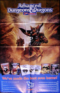 Advanced Dungeons and Dragons 2nd Edition Poster
