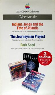 Cyberarcade (Indiana Jones and the Fate of Atlantis, The Journeyman Project, Dark Seed) (Apple) (Macintosh)