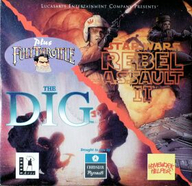 Demo CD (The Dig, Rebel Assault II, Full Throttle) (Shamrock Communications) (IBM PC)