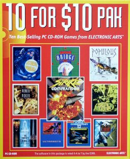 10 for $10 Pak (Extreme Pinball; Grand Slam Bridge II; Populous II: Trials of the Olympian Gods; PowerPoker; Seal Team; Strike Commander; The Complete Ultima VII; Ultrabots; Wing Commander II: Vengeance of the Kilrathi Deluxe Edition; Chuck Yeager's Air Combat) (IBM PC)
