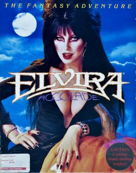 Elvira (Accolade) (IBM PC) (UK Version) (Contains Personalized Note, Clue Book)