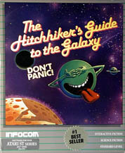 Hitchhiker's Guide to the Galaxy (Atari ST) (Contains InvisiClues Hint Book, T-Shirt)