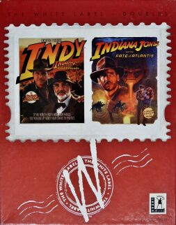 Indiana Jones and the Last Crusade and Indiana Jones and the Fate of Atlantis (White Label) (IBM PC)