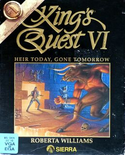 King's Quest VI: Heir Today, Gone Tomorrow (Black) (IBM PC) (missing manual, radio station list)