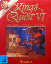 King's Quest VI: Heir Today, Gone Tomorrow (Red) (IBM PC) (missing Radio Station list) (Contains Hint Book, Girl in the Tower CD)