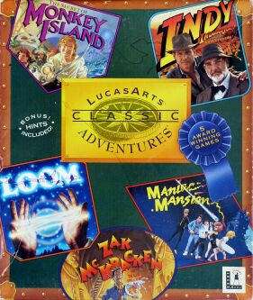 LucasArts Classic Adventures: The Secret of Monkey Island, Indiana Jones and the Last Crusade, Loom, Maniac Mansion, Zak McKracken and the Alien Mindbenders