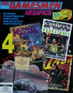 Gamesmen Megapack No. 3, The (includes Their Finest Hour, The Secret of Monkey Island, TV Sports Basketball and Indiana Jones and the Last Crusade Action Game)