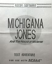 Michigana Jones and the House of Misteree (Reedy Software) (Colecovision ADAM)
