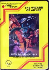 Mysterious Adventures 8: The Wizard of Akyrz (C64) (missing manual?, disk)