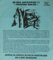 Mystery House (On-Line Systems) (Apple II)