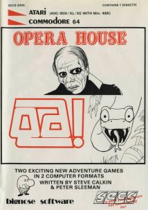Opera House and Qa! (Bignose Software) (Atari 400/800/C64)