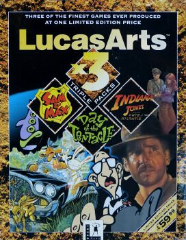 LucasArts x3 Triple Packs: Sam & Max Hit the Road, Maniac Mansion 2: Day of the Tentacle and Indiana Jones and the Fate of Atlantis