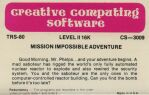 Adventure 3: Mission Impossible Adventure (Creative Computing Software) (TRS-80)