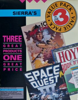 Sierra's Value Pack: A-10 Tank Killer, Hoyle's Book of Games, Space Quest III: Pirates of Pestulon (IBM PC)