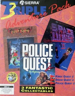 Sierra Triple Adventure Pack: King's Quest II: Romancing the Throne, Space Quest II: Vohaul's Revenge, Police Quest 2: The Vengeance (Ozisoft) (IBM PC)