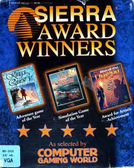 Sierra Award Winners: King's Quest V: Absence Makes the Heart Go Yonder!, Red Baron, Rise of the Dragon (IBM PC)