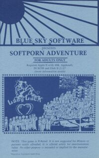 Softporn Adventure (Blue Sky Software) (Apple II) (missing disk)